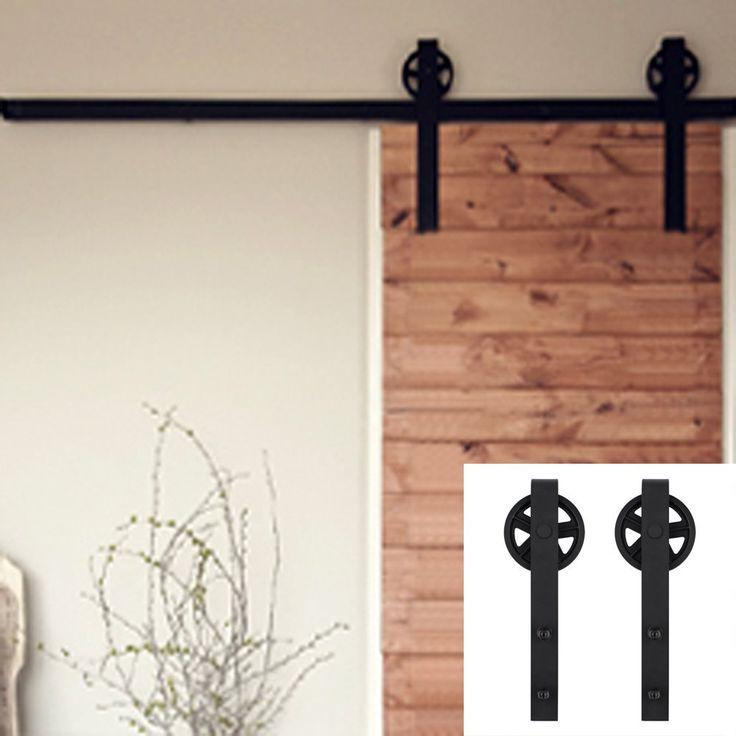 Pin by winsoon barn door hardware on SINGLE Black Wheel Design - roulette porte placard coulissant