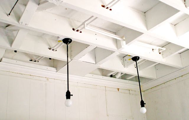 Exposed Basement Ceiling Lights : Basement lighting exposed ceiling das haus