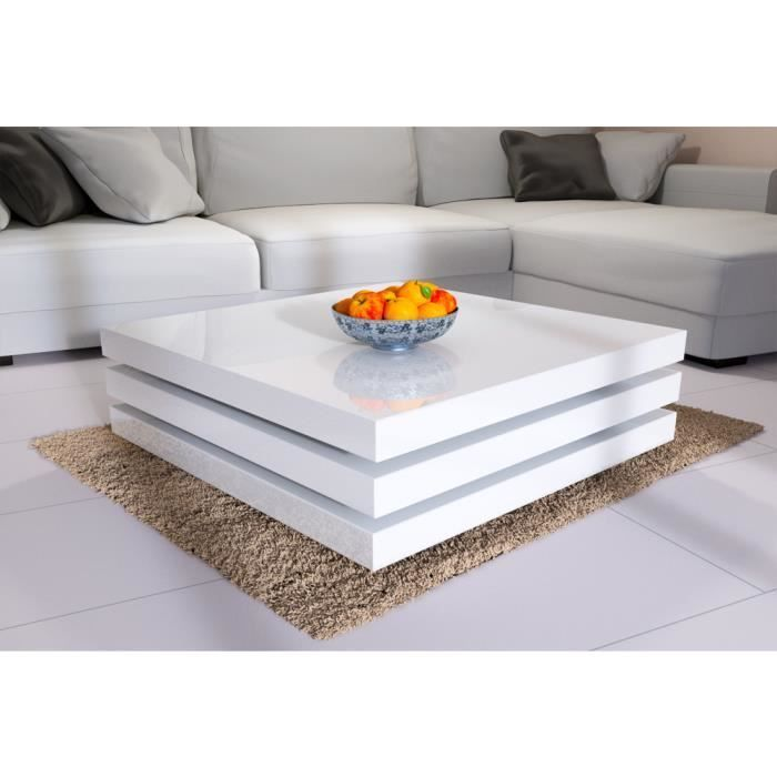 Table Basse De Salon Moderne 60 X 60 Cm Blanc Table Basse Salon Meubles De Salon Modernes Table Basse