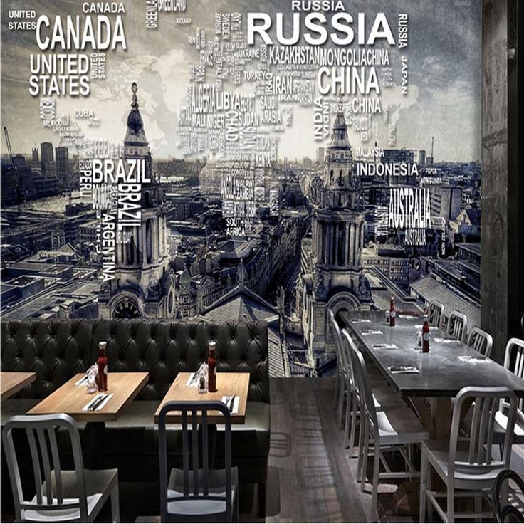 Find More Wallpapers Information About Custom Vintage World Map Wall Mural  Photo Wallpaper For Restaurant Cafe Part 43
