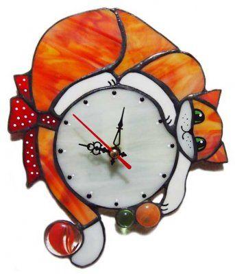 Декоративные настенные часы. Технология Тиффани и пленочный витраж Zen Designer