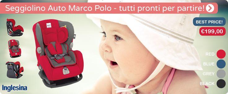 Il Seggiolino Marco Polo per automobili è ideale per iniziare ad esplorare il mondo con mamma&papà! Perfetto dalla nascita fino ai 18kg! Disponibile in vari colori per tutti i gusti!