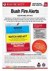 this bushfire alert facts sheet may have helped many people during the 2003 Canberra bushfires.-social impact