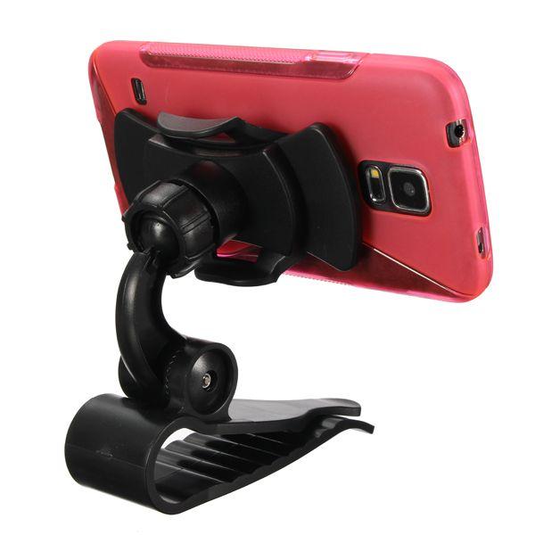 Sostenedor del montaje parasol coche de pie para el teléfono móvil de iPod de los gps mp3 / 4