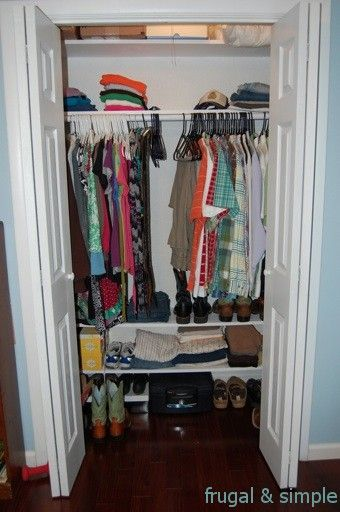 17 best images about more clothes than closet space on pinterest closet organization - Small closet space solutions minimalist ...