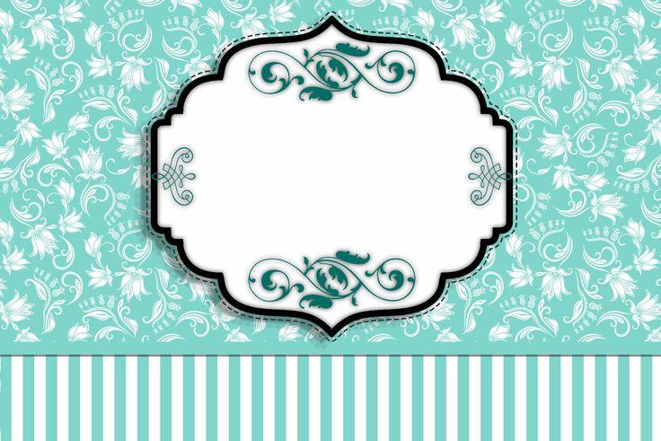 Fiesta Tiffany: Invitaciones para Imprimir Gratis.