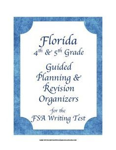Florida 4th 5th Grade FSA WRITING Test Planning & Revision Checklists