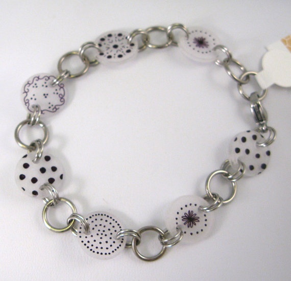 Dots Steel and Plastic BraceletFrom byRSG