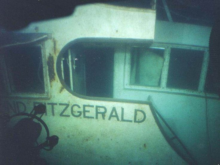 Pilot house of the sunken Edmund Fitzgerald, which sank in Lake Superior near…