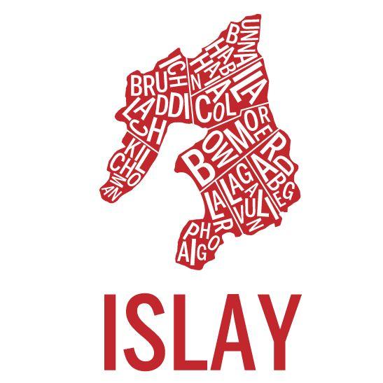 Islay i färgen röd