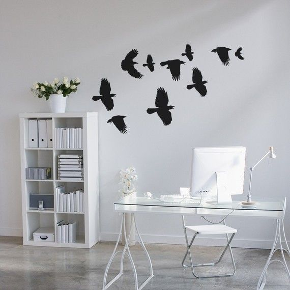 Flock of Crows Wall Decals