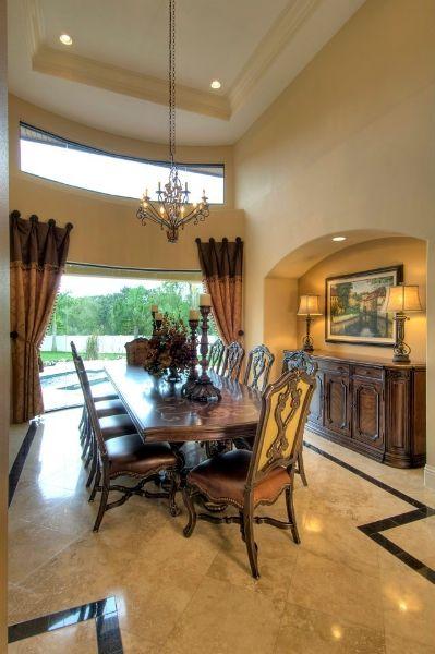 Mediterranean manor dining room designs by decker ross for Mediterranean dining room design ideas
