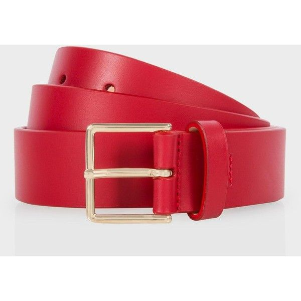 Paul Smith Men's Red Leather Suit Belt ($170) ❤ liked on Polyvore featuring men's fashion, men's accessories, men's belts, red, mens red belt and mens belts