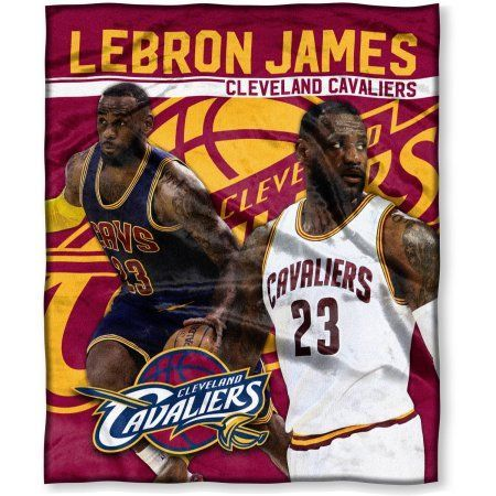 "NBA Lebron James 50"" x 60"" Cleveland Cavaliers Players High Definition Silk Touch Throw - Walmart.com"
