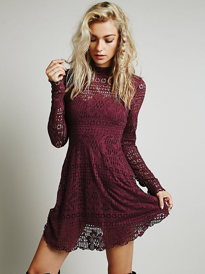 Free People Dinner Date Dress, $88.00 Love this, so cute in whisper pink  dusty plum!