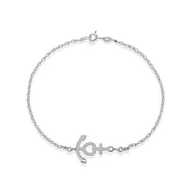 The anchor by Lilou on a 925 silver chain bracelet: symbol of love, faith and hope! Meaningful present #lilou #infinity #silver #chain #present #christmas #lessthan35