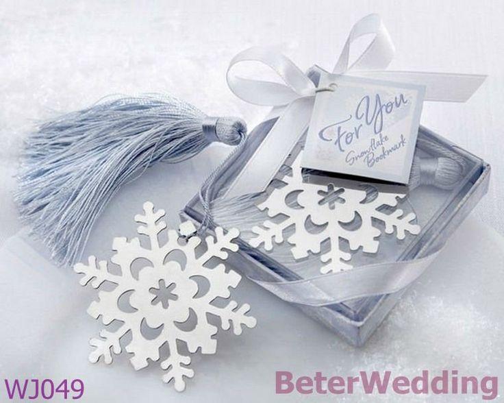 Il regalo di BeterWedding ed il ricordo WJ049_Snowflake all'ingrosso Bookmark i favori di cerimonia nuziale usati come decorazione di cerimonia nuziale
