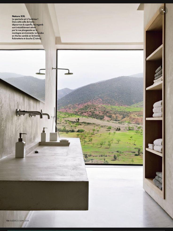 Serene bathroom with great windows