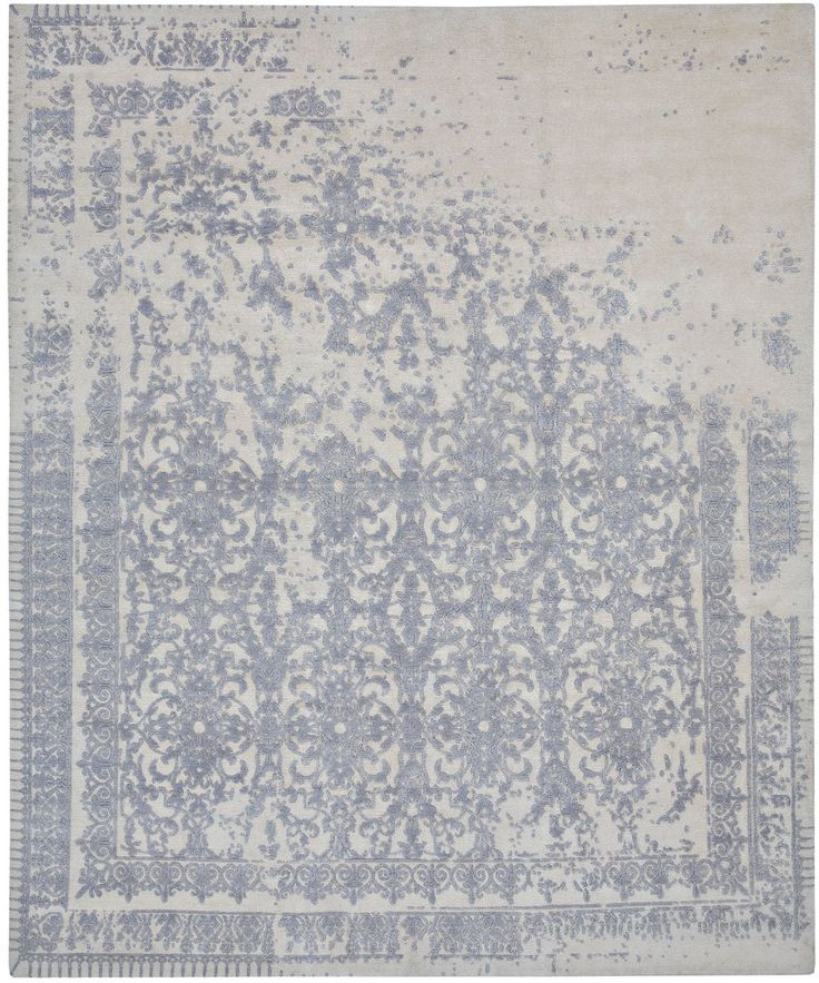 Ferrara by Jan Kath. An elegant ancient Roman motive forms the basis of this hand-made designer rug collection. The introduction of an corrosive effect gives the classical pattern a whole new contemporary look