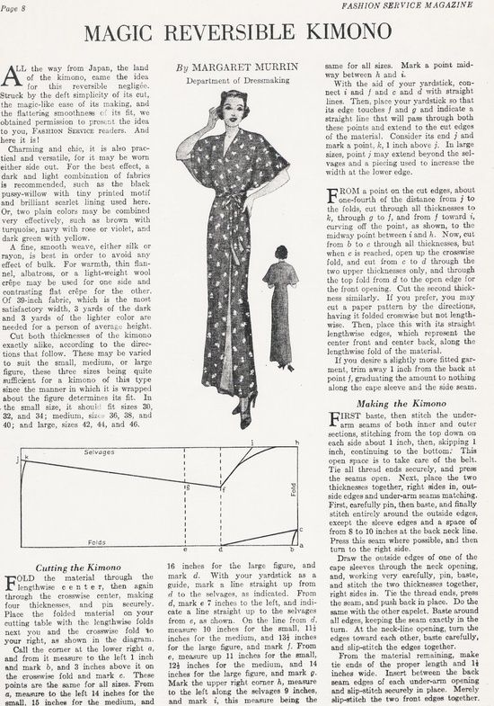 Look What I Found Friday | Pinterest Free Vintage Newspaper Sewing Patterns I love the Bed Jacket Pattern!