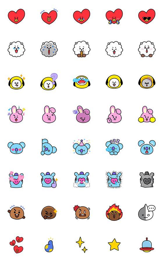 Universtar Bt21 Must Have Emoji Line Emoji Line Store
