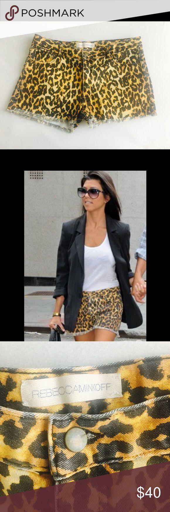 Rebecca Minkoff leopard print shorts Leopard print denim shorts by Rebecca Minkoff - size 6 Rebecca Minkoff Shorts Jean Shorts