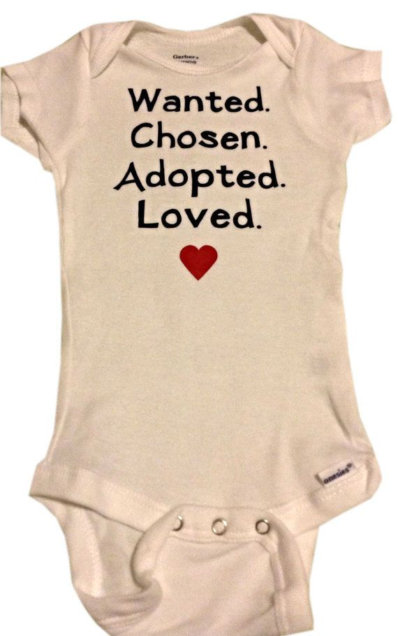 Adoption Onesie or T-shirt: newborn to youth large by RatticleBaby