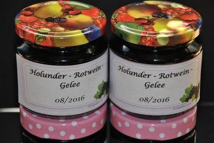 Holunder - Rotwein - Gelee 1