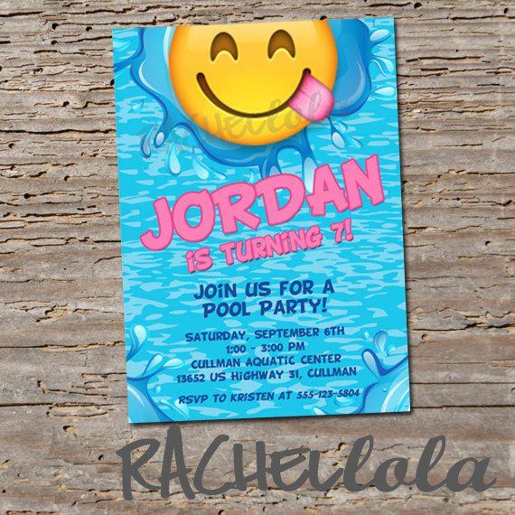 emoji invitation template