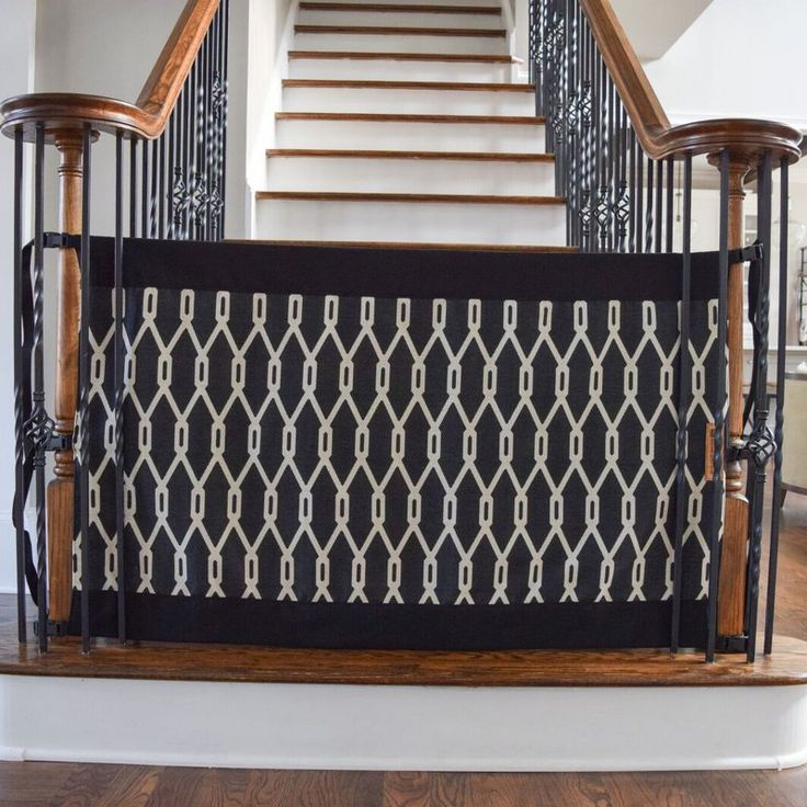 The Stair Barrier Banister To Banister Safety Gate Indoor Outdoor   Black    BBIO 1015