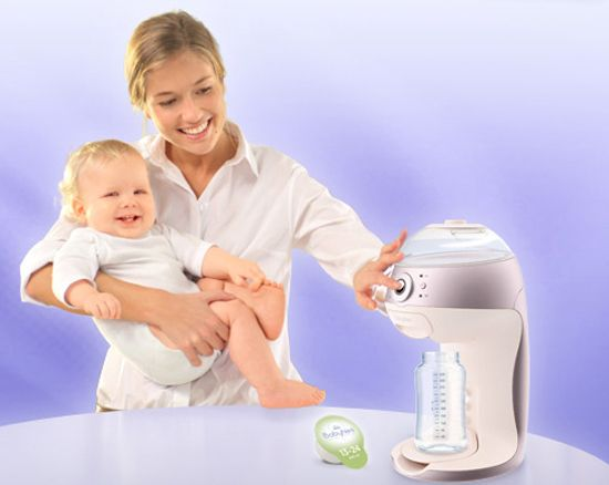 The BabyNes – it's a baby milk Nespresso machine... if only we had this in the states