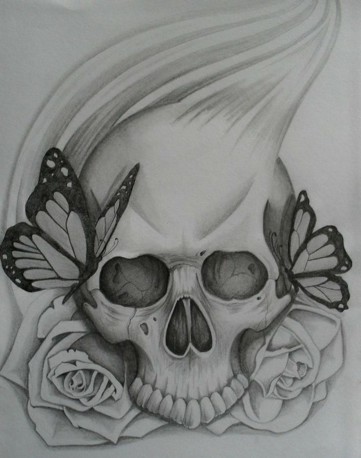 simple skull tattoo pin easy drawings of roses and skulls picture to pinterest skulls and. Black Bedroom Furniture Sets. Home Design Ideas