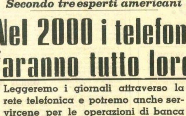Ecco cosa avevano previsto 3 esperti di tecnologia nel 1962 Quando ho avuto modo di leggere quest'intervista su quel vecchio giornale di oltre 50 anni fa, devo dire la verità, da amante della tecnologia, mi sono emozionato. E' incredibile la quantità di detta #tecnologia