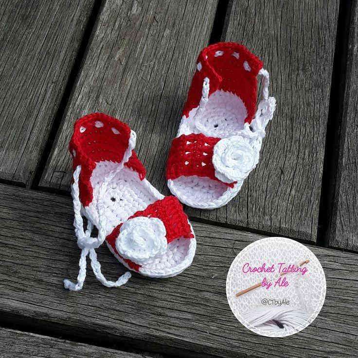 Sandali, sandaletti a uncinetto per neonata : Moda bebè di crochettattingbyale