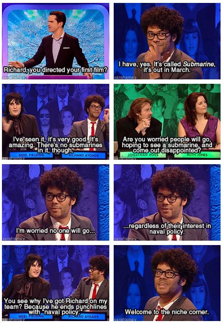 Richard Ayoade on Big Fat Quiz of the Year