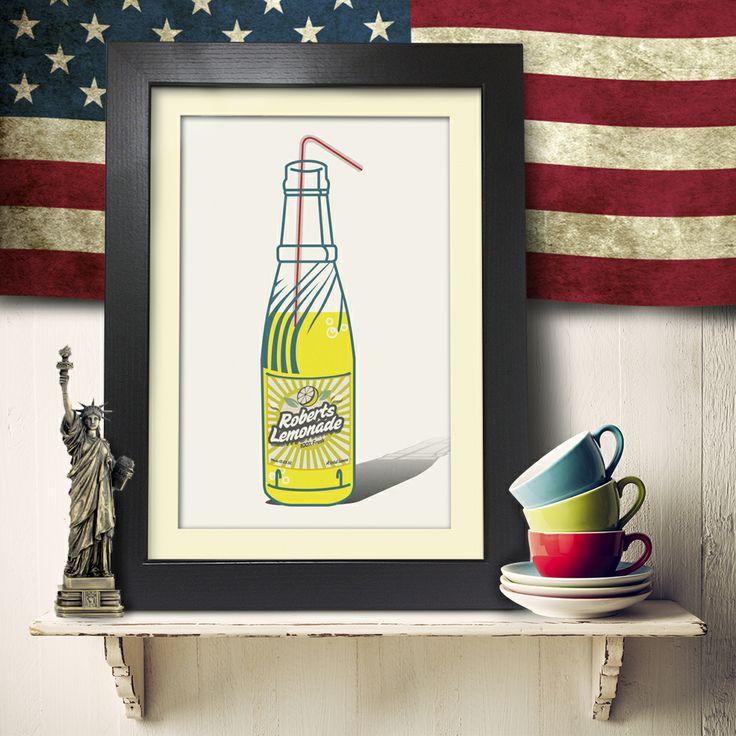 Pop Bottles Lemonade - Single Personalised Art from Yoofiti | Made By Yoofiti Ltd | £69.99 | BOUF