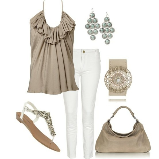 : Date Night, Style, Nifti Neutral, Color, Summer Outfits, White Pants, Lights Brown, Work Outfits, White Jeans
