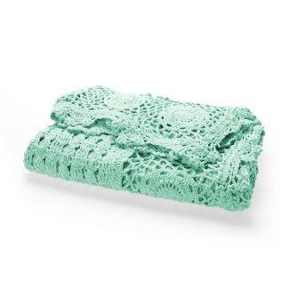 crochet throw mint