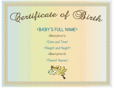 boy birth certificate template - 17 best award template images on pinterest award