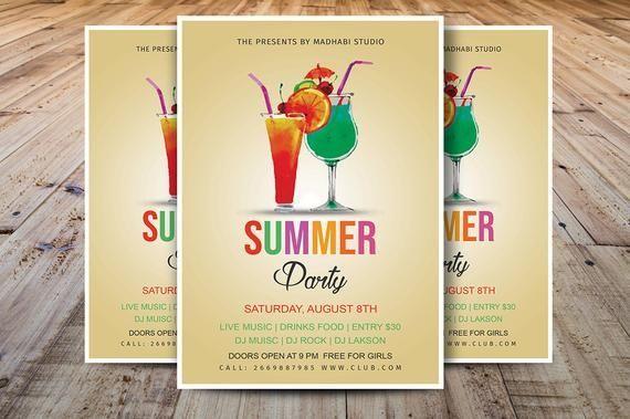 Sommer Party Flyer Sommer Event Flyer Sommerfest Flyer Vorlage Photoshop Elements Ms Word Vor In 2020 Event Flyer Templates Event Flyer Flyer Template