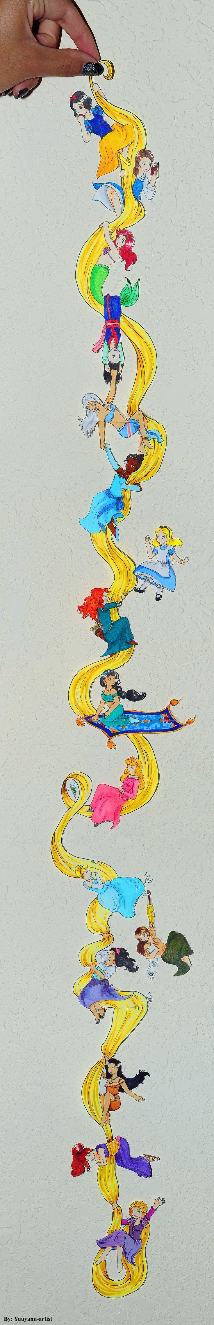 Women of Disney - Chibi Chain by yuuyami-artist.deviantart.com on @deviantART