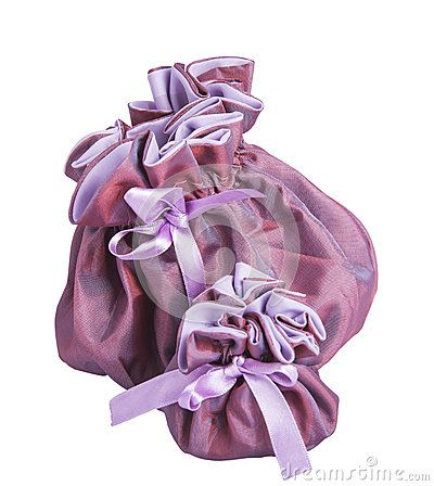 Purple gift box for jewelery with white background