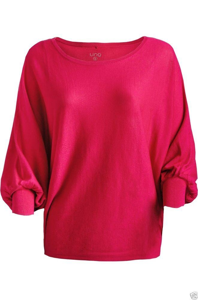 UNQ Strick-Pullover mit Fledermausärmel in Rosa, NEU, WInter 2015, Gr.S, M,L, XL in Kleidung & Accessoires, Damenmode, Blusen, Tops & Shirts | eBay