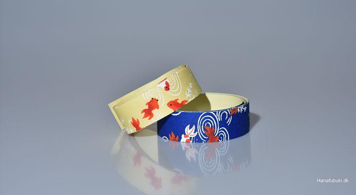 Washi tape with goldfish