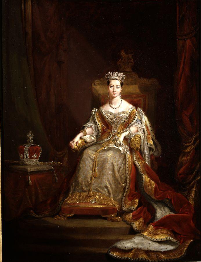 Queen Victoria in Coronation robes 1838