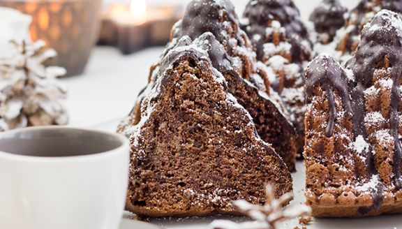 Oh Tannenbaum! Weihnachtlicher Rotweinkuchen {Spon. Post}