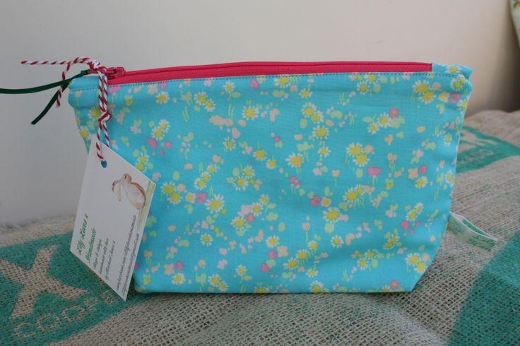 Liberty fabric make up bag