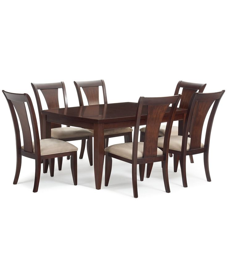 Metropolitan 7 Pc Contemporary Dining Set Table 6 Side Chairs