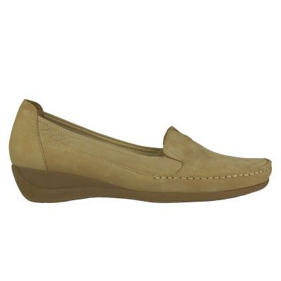 Γυναικεία :: Loafers/Μοκασίνια :: BOXER Shoes 56039 Beige - Παπούτσια Ι troumpoukis.gr