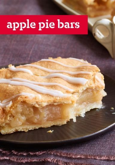 Apple Pie Bars — You'll know it's a special occasion when you get to enjoy a serving of this delicious fall dessert recipe!